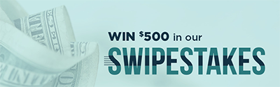 Win $500 in our Swipestakes