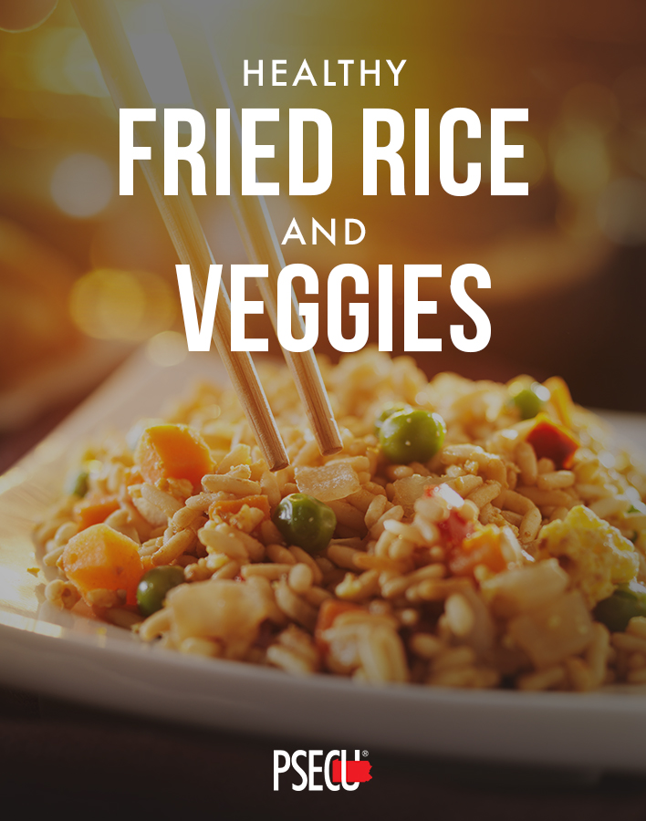 Fried Brown Rice and Veggies - Recipes for large families