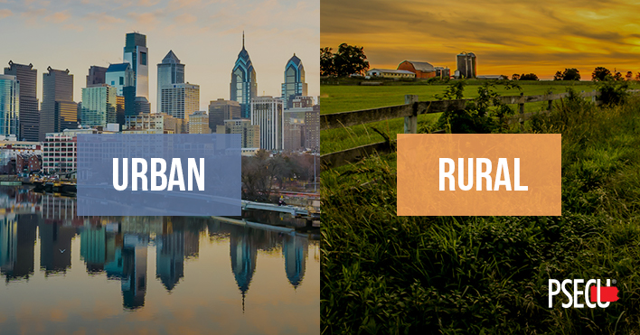 Urban vs Rural Homes