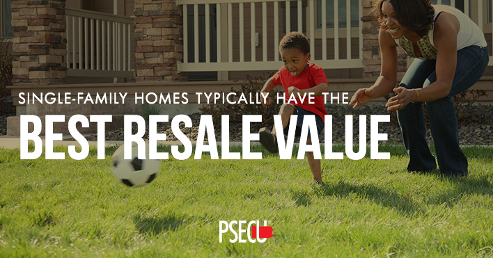 Single Family Homes have the best resale value