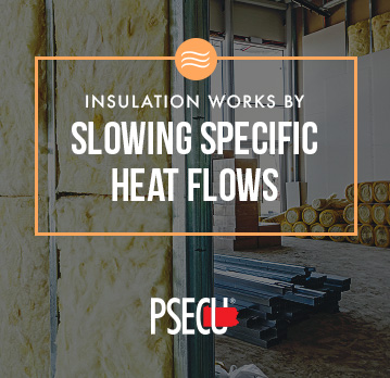 insulation works by slowing down heat flows