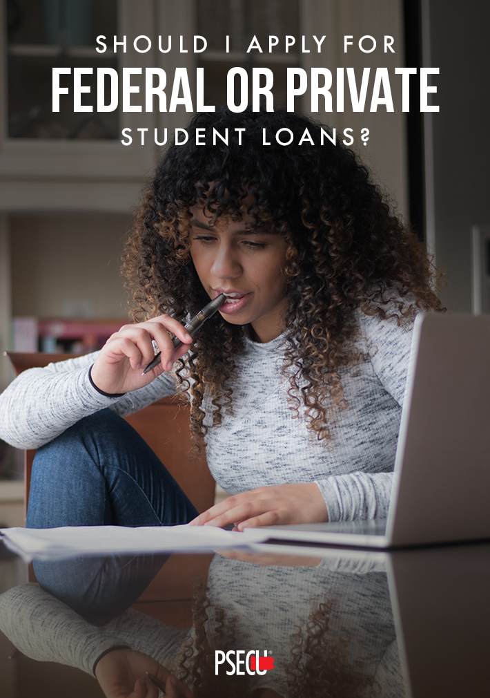apply for federal or private student loans